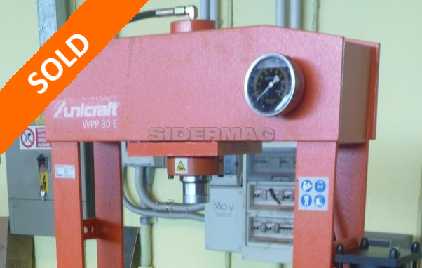 Pressa idraulica sicmi 70 ton sidermac for Presse idrauliche usate per officina