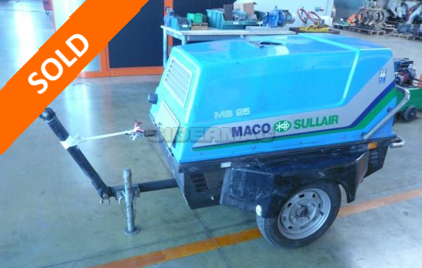 Used portable compressor MACO SULLAIR MS 25