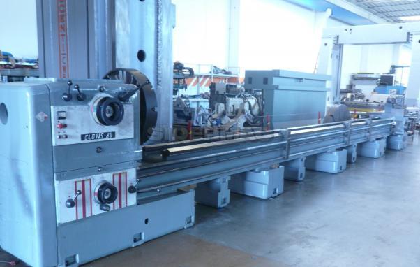 Gebrauchte konventionelle drehmaschine MERLI CLOVIS 30 450x9.000mm