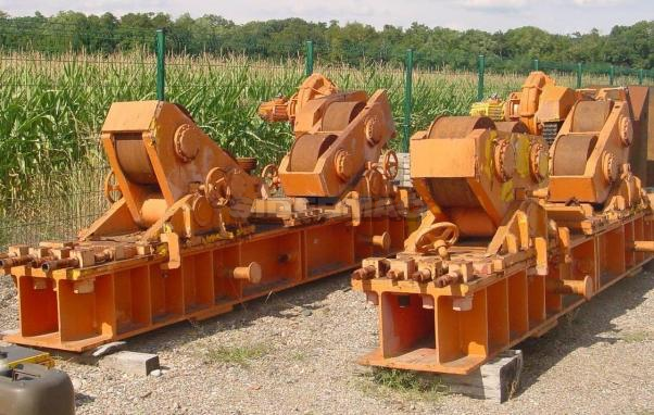 Used heavy duty rolls positioners MIRLI 500ton