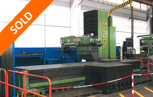 Used moving column milling machine MECOF mod. CS83/G CNC