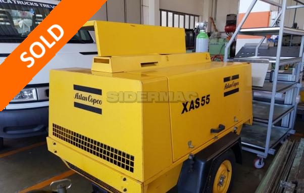 Used compressor ATLAS COPCO mod. XAS55 (with CE)